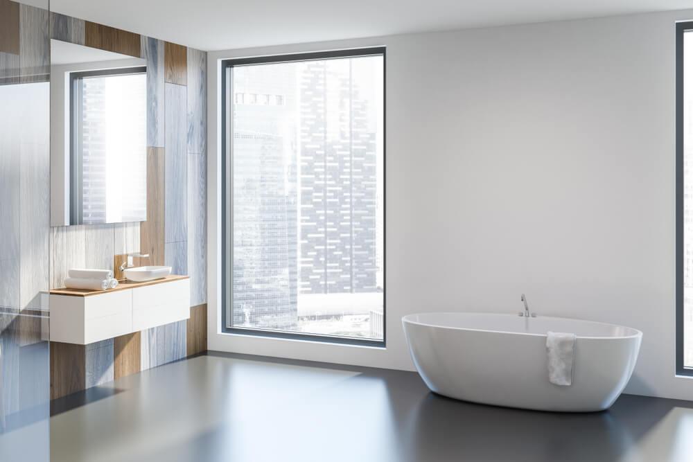 epoxy vloer in de badkamer